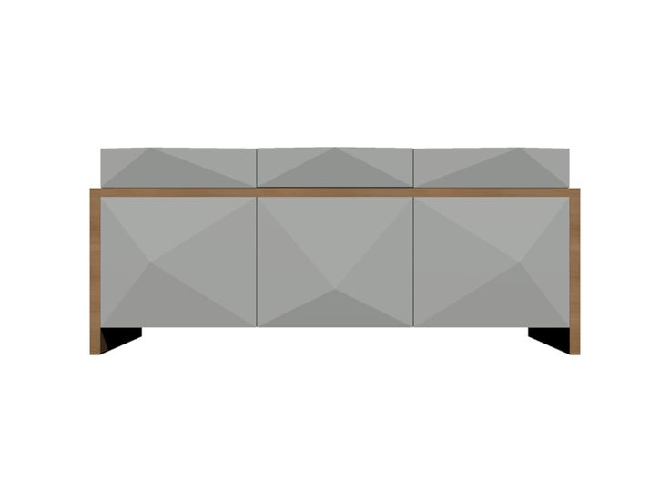 NOVINKA – Príborník RAMID  Moderný príborník určený pre moderne zariadené jedálne zaujme 3D tvarom dvierok. Prevedenie 3x zásuvka, 3x policová skrinka.Rozmer 1880 x 790 x 440 mm.