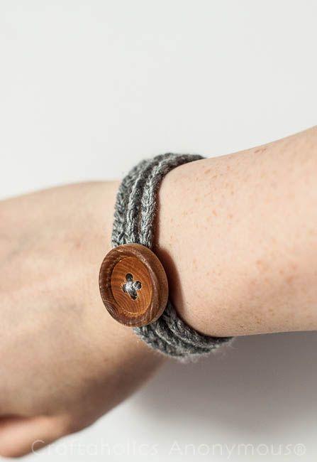 Craftaholics Anonymous® | Easy Crochet Bracelet Tutorial