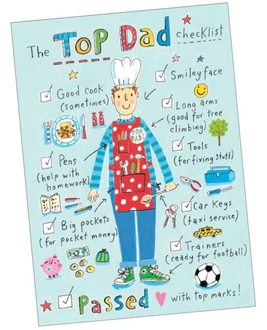 A093 Top Dad.   Like all Phoenix Trading greetings cards this one is blank for your special message to your Dad.  Perfect for Father's Day, a Birthday or any occasion when you want to say thank you.  £1.75 or save 20% when you buy 10+ cards of any design.