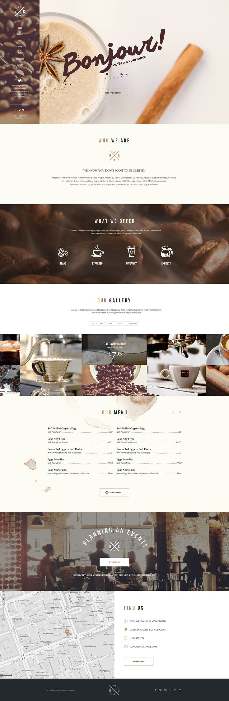 https://www.behance.net/gallery/27688397/Bonjour-Cafe-Responsive-HTML5-Template