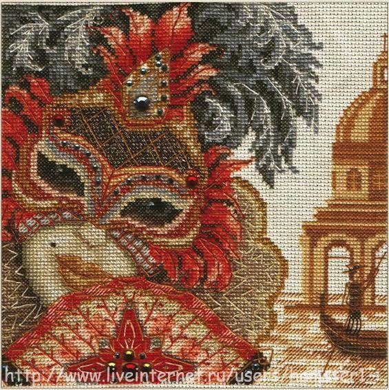 0 point de croix masque carnaval venise - cross stitch mask carnival of venice