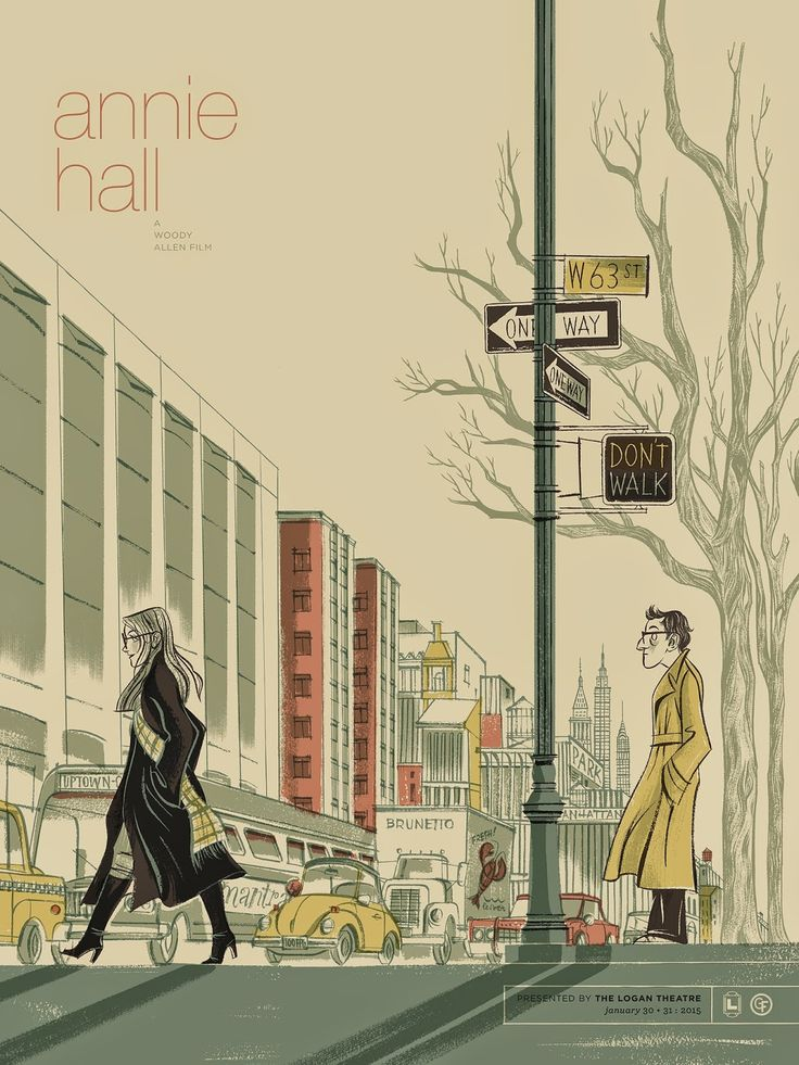"""Anne Benjamin's """"Annie Hall"""" Poster                                                                                                                                                      More"""