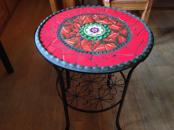 Mosaic Table Garden Side Table Bistro Table With Images
