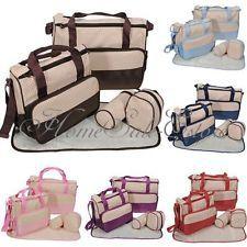 5 en 1 Bebé Bolsa Pañales Cambiador Pañal Carro Carrito Ciberón Momia Bolso UK