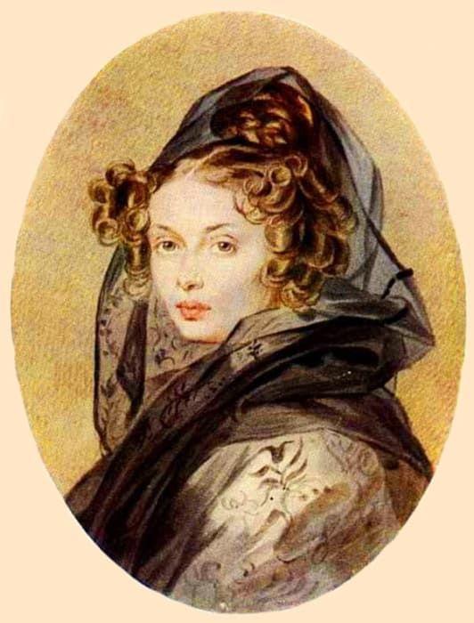 П. Ф. Соколов. Портрет Александры Григорьевны Муравьевой, 1825   Фото: liveinternet.ru