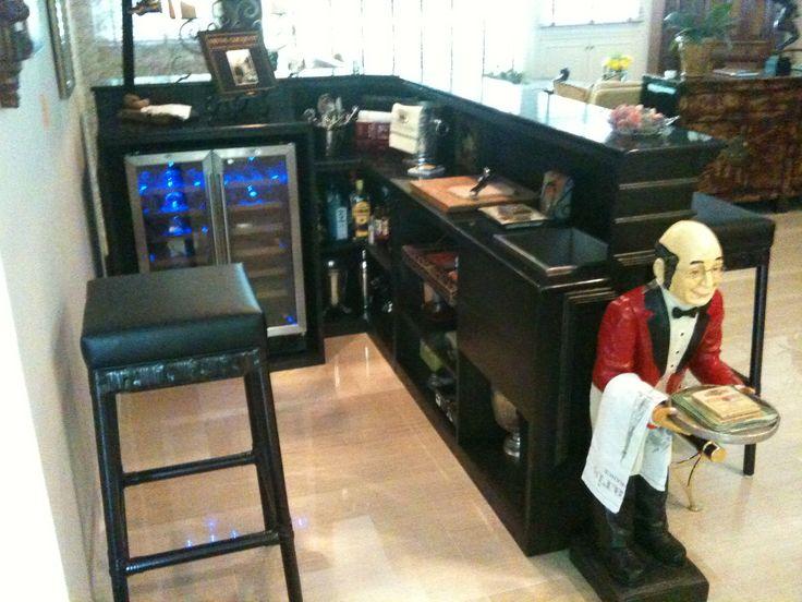 L shape mini bar Perfect dimensions for basement bar idea