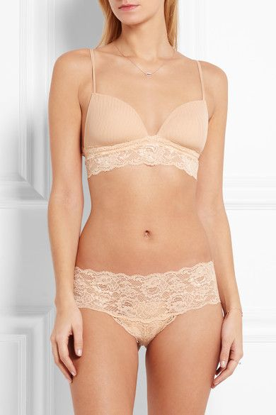 Cosabella - Never Say Never Soire Lace-trimmed Mesh Soft-cup Bra - Neutral -