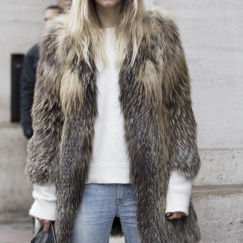 Fab faux fur #fashion #style #chic