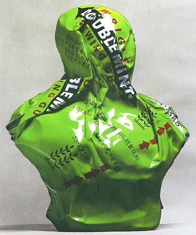 Chinese contemporary art Jiao Xingtao, Green Bust