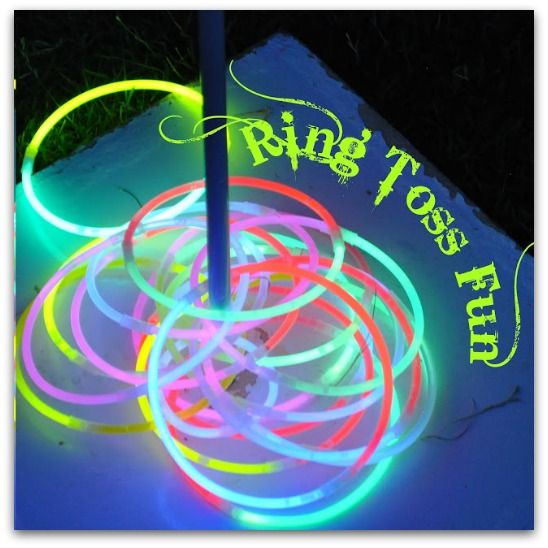 glow in the dark ring toss - how fun would this be on the Fourth of July!!