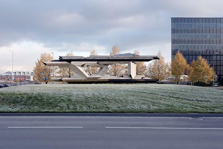 Gilles Retsin Designs Lego-like Wooden Pavilion