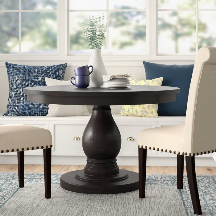 Three Posts Barrington Dining Table Reviews Wayfair Dining Table In Kitchen Black Round Dining Table Dining Room Table Centerpieces