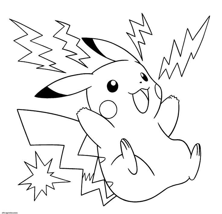 13 Nouveau De Dessin A Imprimer Pikachu Image   Coloriage ...