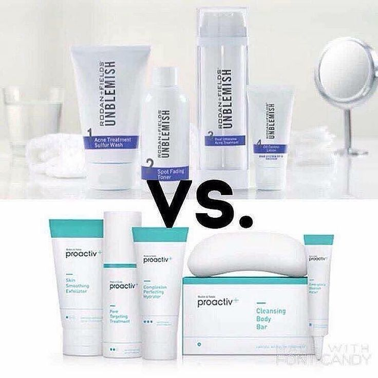 ProActive vs. UNBLEMISHWHAT IS THE DIFFERENCE? Made by the same world renowned Dermatologists Dr. Rodan and Dr. Fields Proactiv is salicylic acid based. It was created primarily with teenagers in mind knowing that most teenagers do not wash their face daily and therefore would not use the product consistently. UNBLEMISH is sulfur based. This Multi-Med product is gentle formulated to be used twice daily with a sulfur wash that works with the benzoyl peroxide in Step 3. Although milder to the…