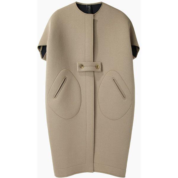 Zero + Maria Cornejo Ayah Cocoon Coat found on Polyvore