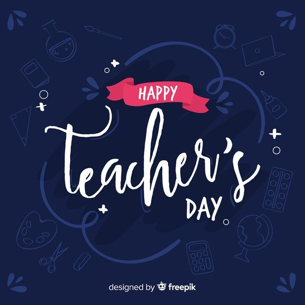 Download Hand Drawn Teachers Day Lettering For Free In 2020 Teachers Day Graphic Design Templates Print Design Template
