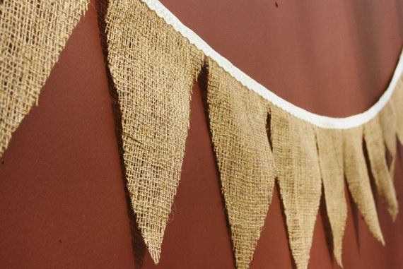 Burlap and Lace Bunting Banner Photo Prop by themcavoyroost, $18.00Burlap Buntings, Wedding Decorations, Burlap Lace, Photo Props, Lace Buntings, Banners Photos, Burlap Banners, Photos Props, Buntings Banners