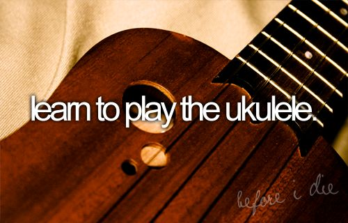 I've said I want to learn to play a musical instrument, and the instrument of choice would be a ukulele. I really do.