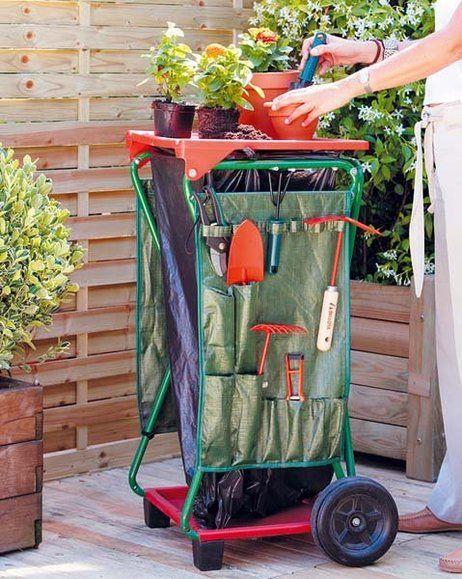 como hacer un carro para herramientas de jardín - Buscar con Google