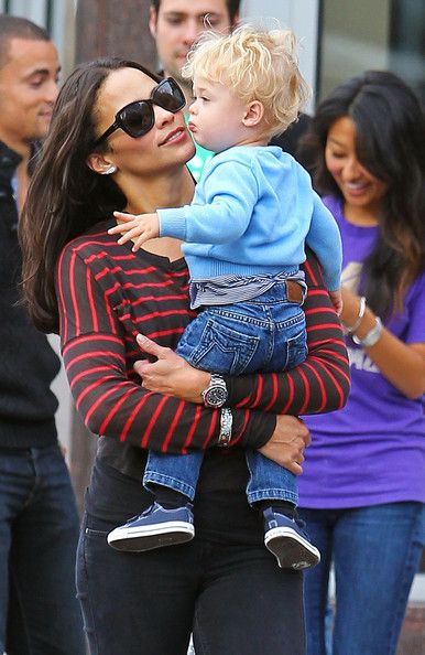 Paula Patton And Son Julian Out For A Stroll In New York.