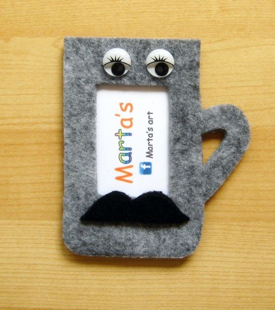 felt photo frame as fridge magnet