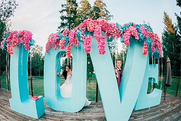 большие буквы из пенопласта свадьба - Поиск в Google