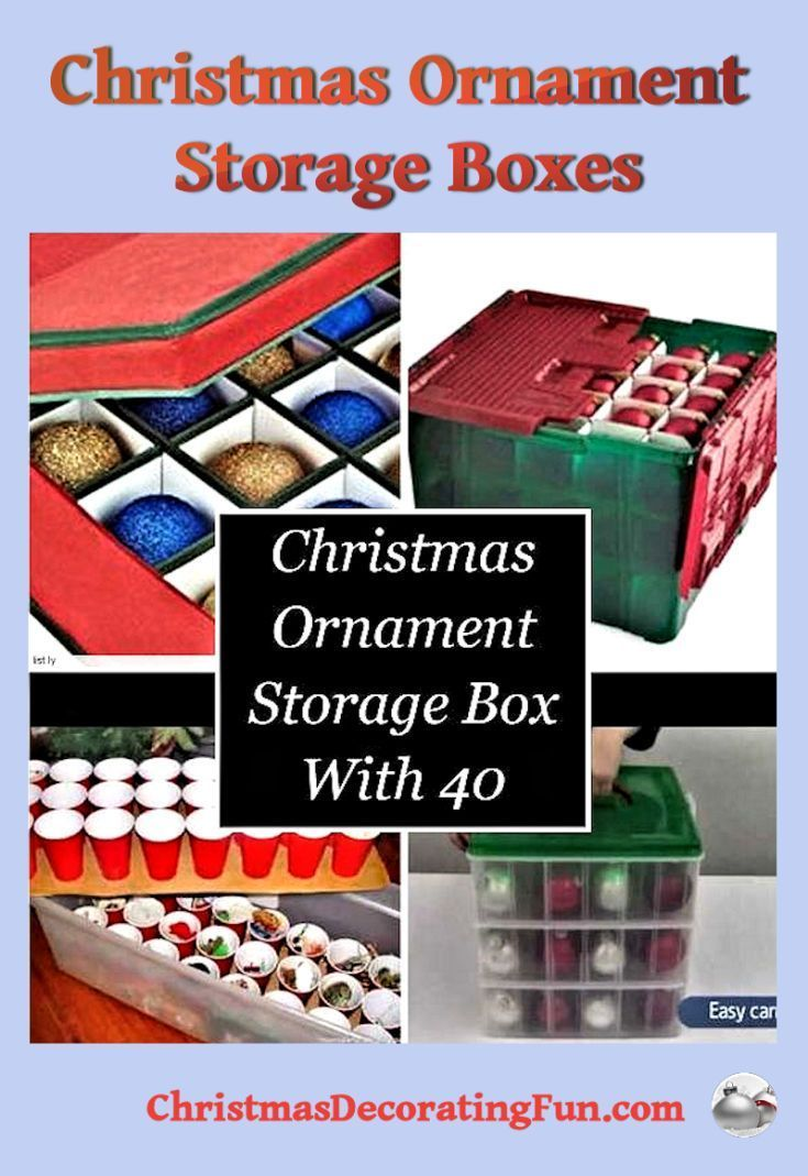 Christmas Ornament Storage Boxes - Are you looking for Christmas ornament  storage boxs with 40 compartments? Look no further! Take a look at the  ornament ... - Christmas Ornament Storage Boxes Christmas Group Board Pinterest