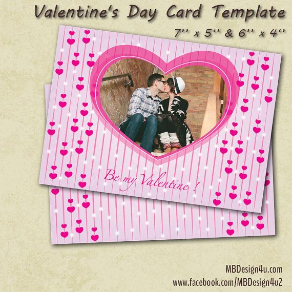 This is editable Happy Valentine's Day Photo Card template. Either you can edit it (you can add your photo and custom text), or I can do it FREE OF CHARGE. If you need it in any other languages, just send me wording and I will do it FREE OF CHARGE After you purchase you will receive 2 PSD files that editable (text and photos). Files are 300 DPI, CMYK; size 5'' x 7'' and 4'' x 6'' print size Valentines card. This custom Valentine's photo card is perfect way to send greetings