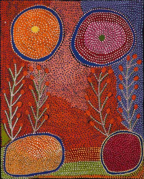 Ruby Tjangawa Williamson / Puli murpu - Mountain Range  1525 x 1220mm