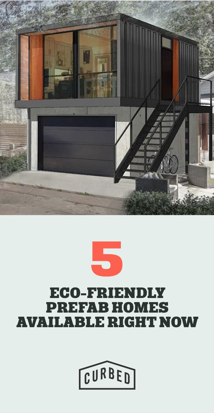 5 Eco-Friendly Prefab Homes You Can Order Right Now  This prefab house looks like its made from a shipping container, I like this style of prefab house because it is modern and takes a new outlook on design and the concept behind prefab architecture.