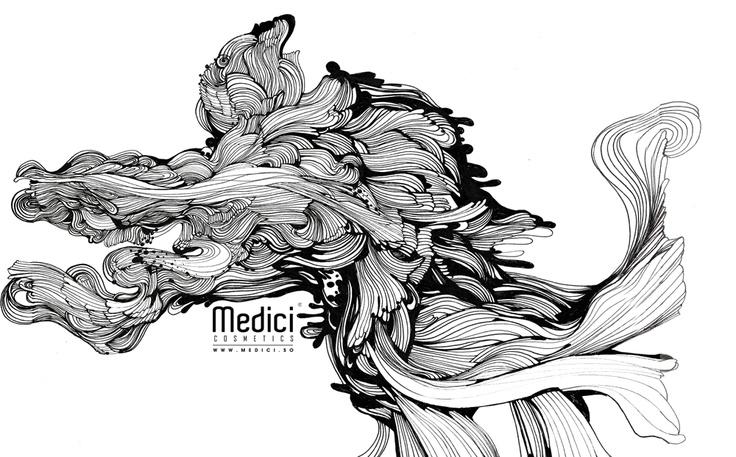 "www.medici.so [Medici x Peach Bang] ""Ballet Lesson in an Ice Cream Factory_아이스크림 공장에서 발레 교습 받기_ink on paper"""