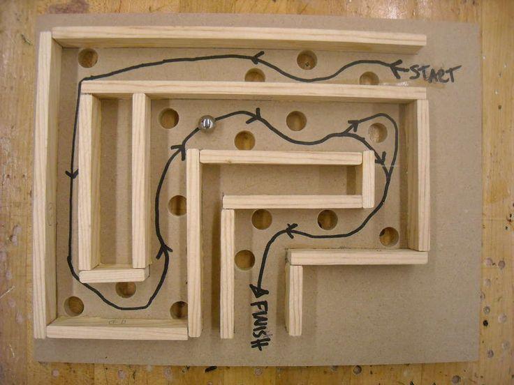 Kid made - wood labyrinth!