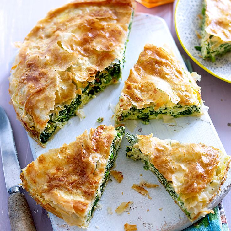 Spinach pie with Wensleydale cheese