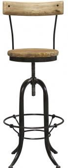 Emery Barstool with backrest. A Block and Chisel Product.