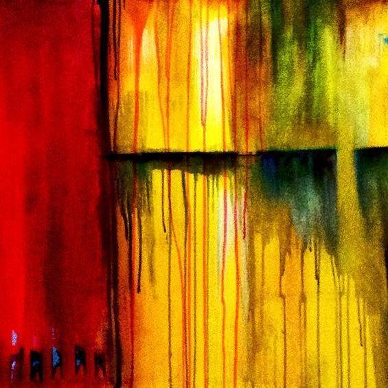 """@josefinakunstler """"El #arte es a los #espacios lo que el #amor a la #vida """" #artist #abstract #expressionism #organic #art #color"""