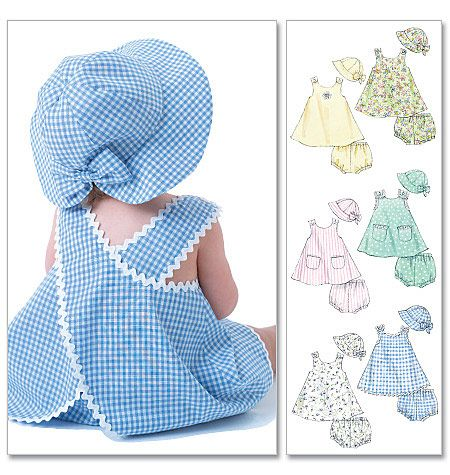 cute back - baby sundress and bloomers. Mcalls