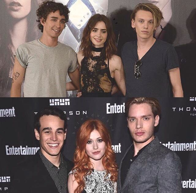The Mortal Instruments Movie - Shadowhunters TV Show. On the top and bottom from left to right we have Simon,Clary,Jace.