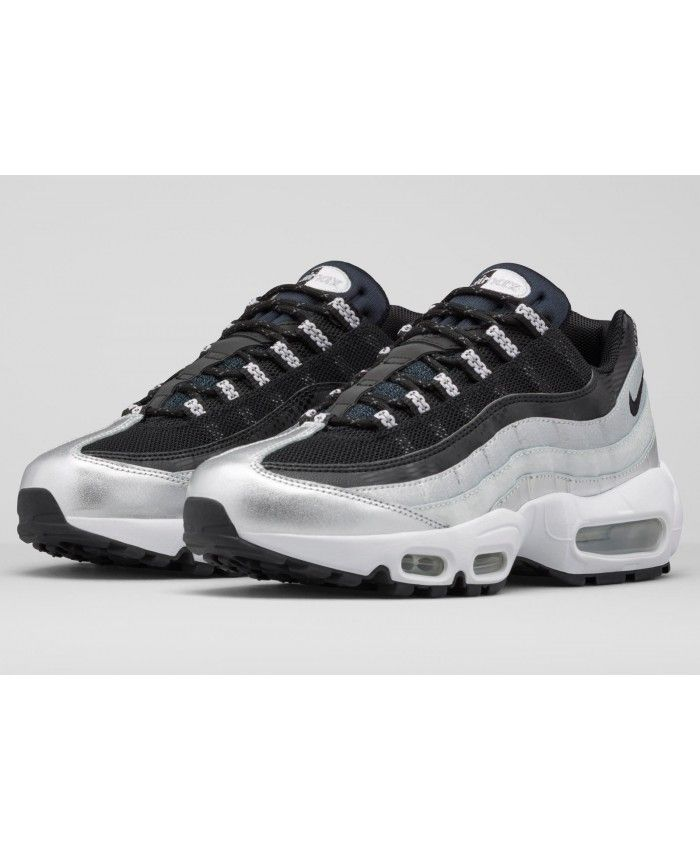 newest 04159 640bd Nike Air Max 95 Silver Black Trainer. Order Nike Air Max 95 Womens Shoes  Store 5076 Air Max 95 Womens, Mens Shoes