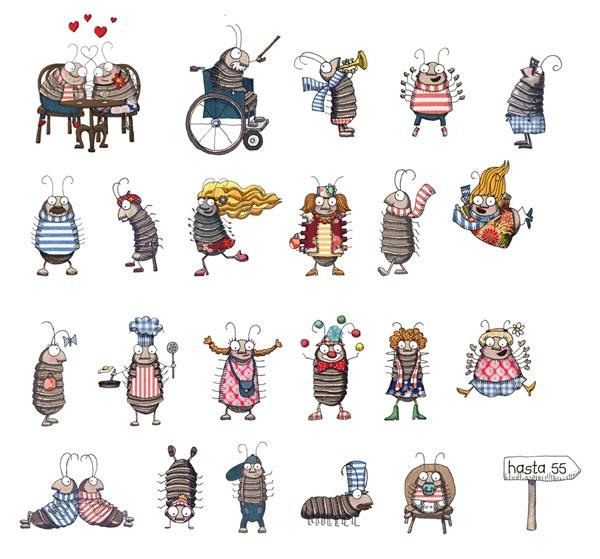 Bichos bola ed cuento de luz illustrations of bugs - Bichos bola en casa ...