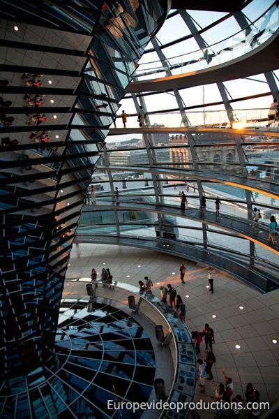 Reichstagskuppel in Berlin in Deutschland