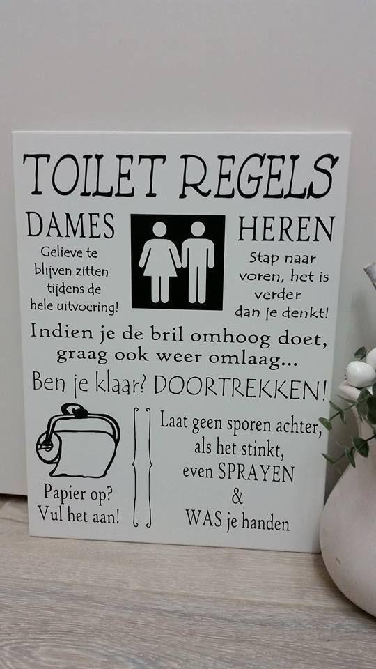 """Toiletregels"" - Kaatje Kado Webshop"
