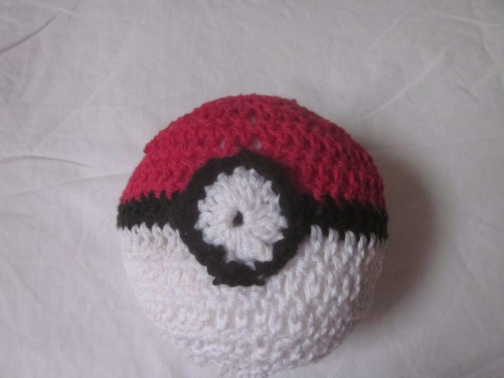 plush pokeball toy, manga toy pokemon toy, crocheted cotton yarn by knightwhosaidknit on Etsy