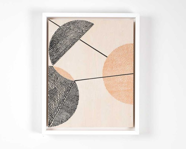 """Kels OSullivan 'Vision' Exhibited as part of 'life:form', 1-31 October 2015 acrylic on wood 8"""" x 10"""" Framed with white wood (no glass)  'The fear of entrapment and restraint, visualised into a source of  inspiration.'  Part of the exhibition 'life:form' which references Angeles Arrien's shapes  studies, 'Signs of Life. The Five Universal Shapes and How to Use them'."""