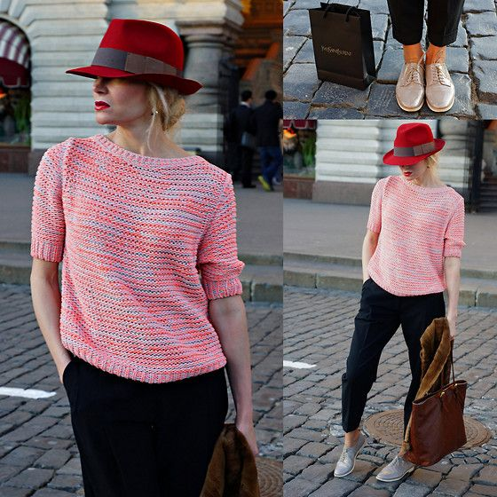 Bimba & Lola Hat, Replay Sweater, Oasis Trousers, Agl Shoes, Longchamp Bag