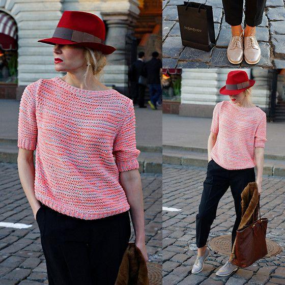 Bimba & Lola Hat, Replay Sweater, Oasis Trousers, Agl Shoes, Longchamp Bag
