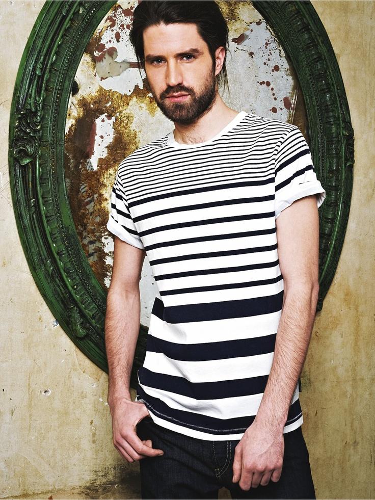 FCUKMens Short Sleeve Stripe T-shirt   Very.co.uk