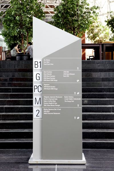 Category: Wayfinding/exterior environment Designer: Bentuk Source:http://www.bentuk.com/ Inspiration: I enjoy the use of minimal materials for this sign.