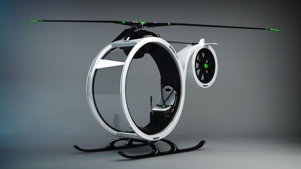Spain-based designer Héctor del Amo has created ZEROº, a concept design for an ultralight helicopter.
