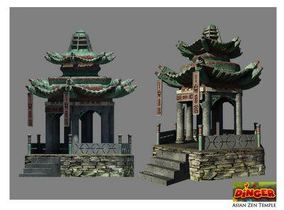 3D work/ experience: Asian Temple ( http://3dwork-chelectonus.blogspot.co.uk/2011/08/asian-temple.html, 2011 )