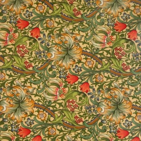 William Morris Golden Lily Oilcloth Tablecloth | Wipe Easy Tablecloths
